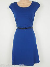 BNWT South Cobalt Blue Fit and Flare Ponte Dress Size 14 Stretch RRP £32