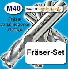 M40 FräserSet lang D=3-4-6mm für Edelstahl Messing Holz Kunststoff Z=2