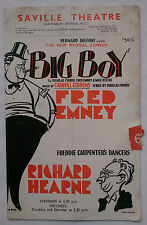 BIG BOY.D FURBER.F EMNEY.SAVILLE PROGRAMME 1945.RICHARD HEARNE.T HENDERSON.HAHN