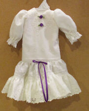"Hand Made DROP WAIST DRESS for 20"" ANTIQUE DOLL # 10"