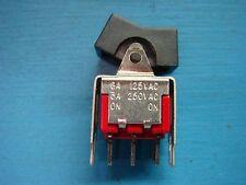(1) APEM ST2-1L4S4V30QJ1-2 MINIATURE ROCKER SWITCH ON NONE ON 6A 125V 3A 250V