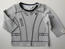 PUMPKIN PATCH BABY BOY LONG SLEEVE JACKET PRINT TEE TOP SIZE 00 FITS 3-6M EC