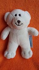 "Metro Co Cream teddy bear soft toy baby comforter 6.5"" small cream"