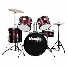 Mendini Wine Red 5-Piece Complete Adult Drum Set +Cymbal+Throne ~MDS80-WR