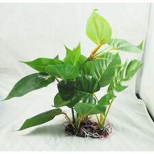 "H1 10"" Green Lifelike Underwater Plastic Plant Aquatic Water Grass for Aquarium"