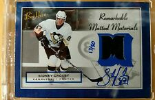 2005-06 Beehive Sidney Crosby Remarkable Matted Materials Rookie Auto/50
