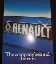 RENAULT COMPANY BEHIND THE CARS BROCHURE 1978