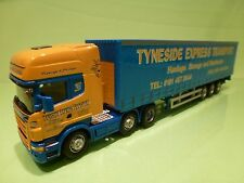 SCANIA R620 V8 TRUCK + TRAILER - TYNESIDE EXPRESS TRANSPORT - YELLOW 1:50