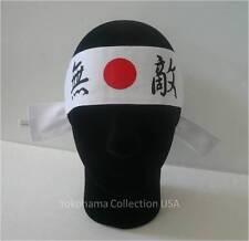 "Japanese Marshal Art ""MUTEKI"" Invincible Hachimaki Cotton Headband/Made in Japan"