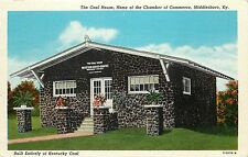 Linen Postcard; The Coal House, Chamber of Commerce, Middlesboro KY Bell County