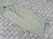 Used British Army Issue Cotton Sleeping Bag Liner Green 160cm Shoulder to toe