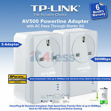 TP-Link TL-PA4010PKIT AV500 Powerline Gaming TV Adapter AC Pass Through 500Mbps