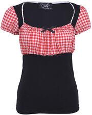 Küstenluder KAILA Gingham Scot 50s Vintage Pepita BLUSE Shirt Rockabilly