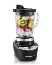 Hamilton Beach Smoothie Smart Blender with 5 Speeds & 40 oz Glass Jar, Black
