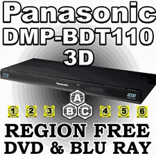 Panasonic DMP-BDT110 3D Slim MULTI REGION FREE  Blu-ray A B C & DVD 1-8 Player