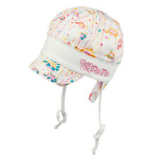 TIE UP GIRLS 100% Cotton hat with UV +50 SUN PROTECTION Spring/Summer BABY