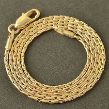 20 Inch 9K Solid Gold Filled Snake Men's & Womens Chain Necklace,Z4607
