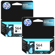 2 Pack 2017 Genuine HP 564 Bk Black ink Cartridges For C310a B210a 7520 D7560