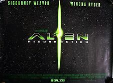 ALIEN RESSURRECTION 1997: UK ADV 2 Dble Sided QUAD Poster  30 x 40 inches