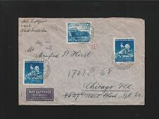 Germany WWII JUDAICA Israel Stuttgart - Chicago 4.23.41 Unlisted Censor Cover 6z