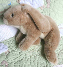 "Animal Alley Tan Plush Life Like Stuffed Heavy Bean Bag Bunny Rabbit 12"" EUC"