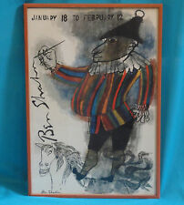 RARE 1960s BEN SHAHN COLORED POSTER JESTER ON A HORSE