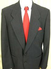Mens Daniel Hechter 2 Button Blue Stripe Wool Suit 42R