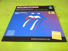 ROLLING STONES - BLUES  LONESOME !PLV 30X30 CM !FRENCH RECORD STORE PROMO ADVERT