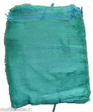 1500 Green Net Sacks 55cm x 80cm / 30Kg Mesh Bags Kindling Logs Potatoes Onions