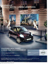 PUBLICITE ADVERTISING 086  2011  Nissan Micra Shift  par Lolita Lempicka