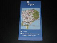 Fahrradkarte Tourenkarte Radwanderungen Deutschland Nord: Rügen