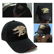 Unisex Black Outdoor Military Hunting Embroidered Navy Seal Baseball Cap Sunhat