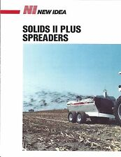 Farm Equipment Brochure - New Idea - Solids II Plus Spreaders - c1987 (F4589)