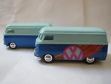 Sunnyside VW BUS Diecast 1:32 3VWS7 SS5403 LIGHT/DARK BLUE HAS BOTH BUMPERS