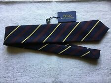 Polo Ralph Lauren Narrow Skinny Wool and Silk Stripe Neck Tie