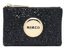 MIMCO Genuine SPARKS FLY BLACK SMALL POUCH WALLET  PURSE BAG Rose Gold Button