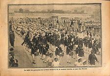 Paris Parc des Princes Défilé Gymnastes Seine Cardinal Amette 1913 ILLUSTRATION