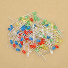 100pcs White Green Red Blue Yellow Emitting 3mm Diode Lamps LED Light Bulb New