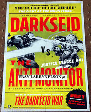 DC YOU JUSTICE LEAGUE POSTER DARKSEID VS ANTI-MONITOR THE DARKSEID WAR APOKOLIPS