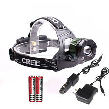 1800LM CREE XM-L XML T6 LED Zoomable Rechargeble Headlamp Headlight Torch 18650