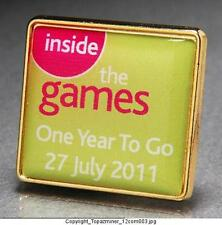 OLYMPIC PINS 2012 LONDON ENGLAND INSIDE THE GAMES COUNTDOWN 1YEAR