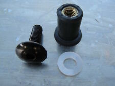 Screen Bolt Kit, black anodised, 8 bolts, for Aprilia RSV 1000 Mille,1998- 2003