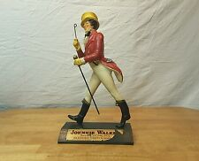 """14"""" VTG Antique Carved Wood Johnnie Walker Figure Display Masters NY Whiskey Ad"""