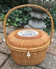 VINTAGE Nantucket Lightship Basket Friendship Purse 1989 Signed Dated C. Brooks