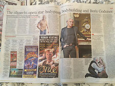 DIMITRI HVOROSTOVSKY interview AGYNESS DEYN UK 1 DAY ISSUE 2014