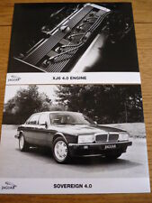 JAGUAR SOVEREIGN ORIGINAL PRESS PHOTOS X 2 BROCHURE RELATED jm
