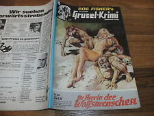 SILBER GRUSEL-KRIMI  99 -- HERRIN d. WOLFSMENSCHEN // Nebelgeister 15 Bob Fisher