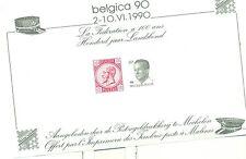 """KING BAUDOUIN -  BELGIUM 1990 """"Belgica '90"""" block"""