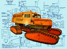 "Radio Control Model 1/16 Scale 15 ""Antarctic Expedition Sno- Cat F/S PLANS on Cd"