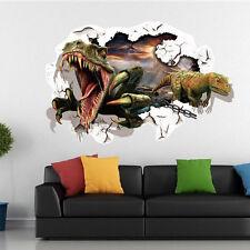 Wandtattoo Wandbild  Kinderzimmer Dinosaurier  Wandsticker 3D NEU 32